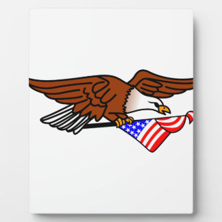 Eagle mit Flagge Schautafel