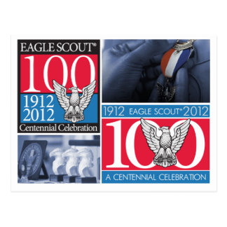 Eagle Scoutcentennial-Postkarte Postkarte