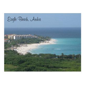 Eagle-Strand, Aruba, auf Postkarte