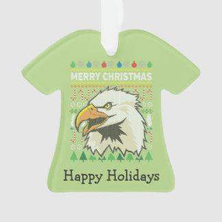Eagle-Tier-frohe Weihnacht-hässliche Strickjacke Ornament