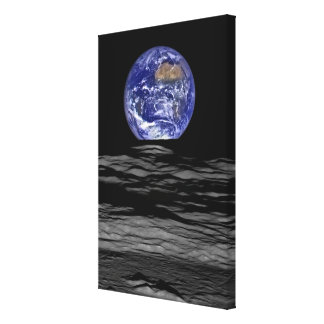 Earthrise vom Farside des Mondes Leinwanddruck