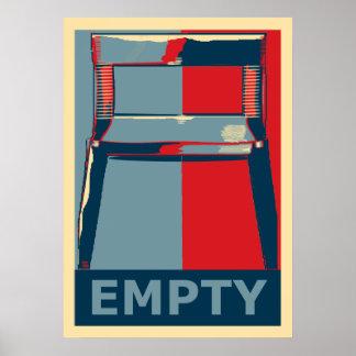 Eastwooding der politische Spaß Stuhllustige Obama Poster
