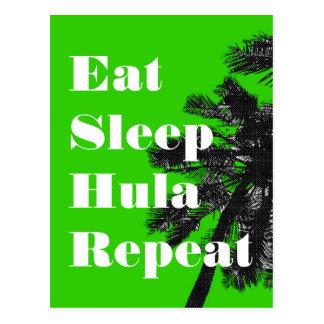 Eat.Sleep.Hula.Repeat Postkarte