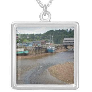 Ebbe bei Bay of Fundy in St Martins, neu Versilberte Kette