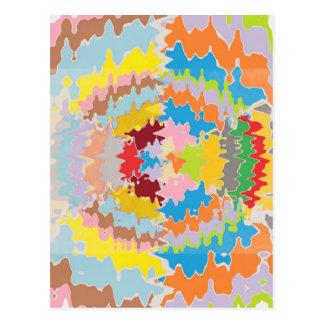 EBR Regenbogen-Farben:  Energie-Balance Postkarte