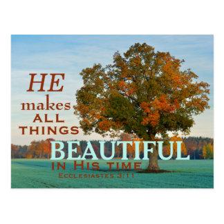 Ecclesiastes 3:11 alle Sachen schöne Postkarte