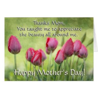 Ecclesiastes 3:11, Tulpen der Bibel-Vers-Mutter Grußkarte