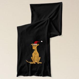 Écharpe Chien drôle de lévrier dans l'écharpe de Noël de