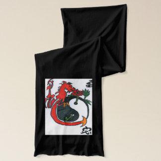 Écharpe Le gardien à la rose du Yin et du Yang