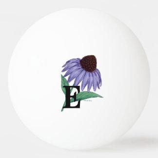 Echinacea-personalisiertes Blumen-Monogramm Tischtennis Ball