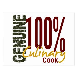 Echter kulinarischer Koch Postkarte