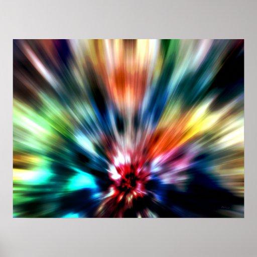 Éclat de couleurs posters