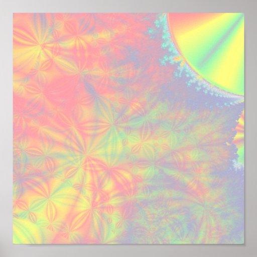 Éclat solaire, fractale art. colorée posters