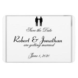 Économies blanches noires de mariage de marié magnet flexible