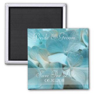 Économies bleues élégantes d'hortensia l'aimant de magnet carré
