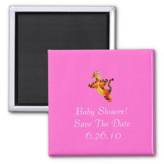 Économies de baby shower l'aimant de date magnet carré