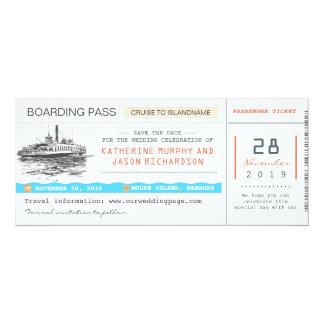 économies de carte d'embarquement de croisière les invitations personnalisées
