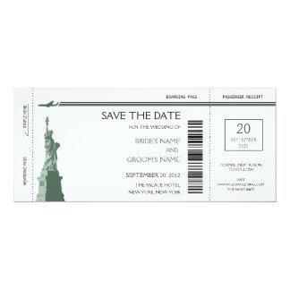 Économies de carte d'embarquement les invitations