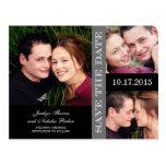 Économies de collage de fiançailles le faire-part  carte postale
