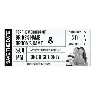 Économies de conception de billet les cartes carton d'invitation  10,16 cm x 23,49 cm