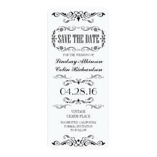 Économies de cru la carte de billet de date carton d'invitation  10,16 cm x 23,49 cm