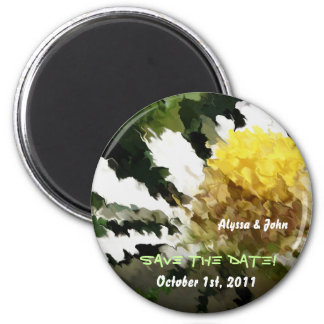 Économies de marguerite l'aimant de date magnet rond 8 cm
