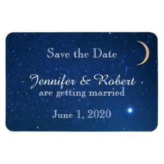 Économies de mariage de nuit étoilée la date magnet en vinyle