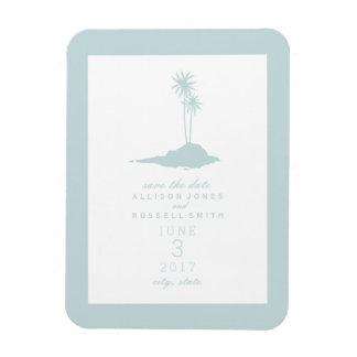 Économies de mariage d'île de plage la date - magnets rectangulaires