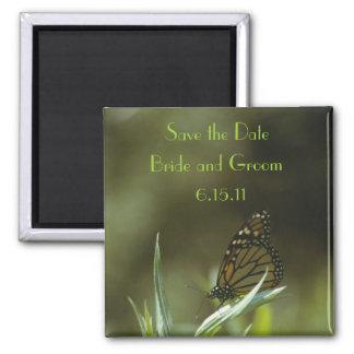 Économies de papillon de monarque l'aimant de date magnet carré