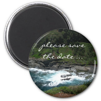 économies de plage la date magnet rond 8 cm