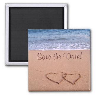 Économies de thème de plage la date ! aimant pour réfrigérateur