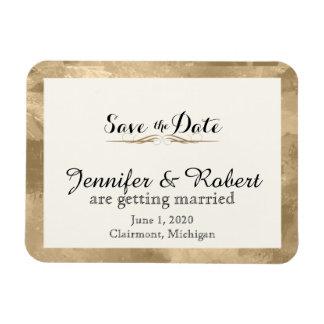 Économies élégantes de mariage d'aquarelle d'or la magnet flexible