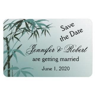 Économies en bambou naturelles de mariage de magnet en rectangle