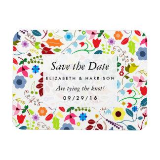 Économies florales chics modernes de mariage de magnet