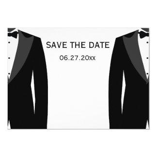 Économies gaies noires et blanches de mariage les carton d'invitation  12,7 cm x 17,78 cm