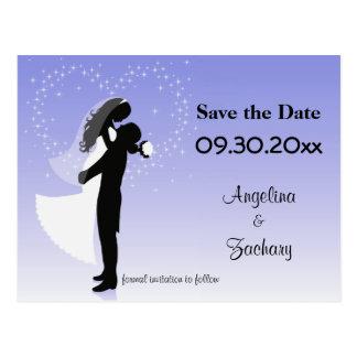 Économies lilas d'Ombre la carte postale de mariag