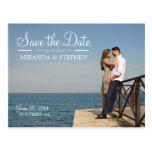Économies modernes douces de mariage la carte post carte postale
