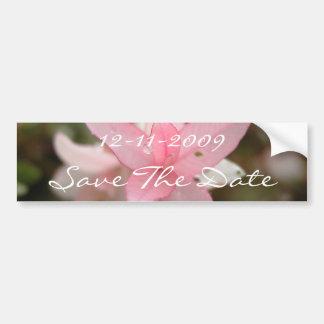 Économies roses de fleur la date autocollant de voiture