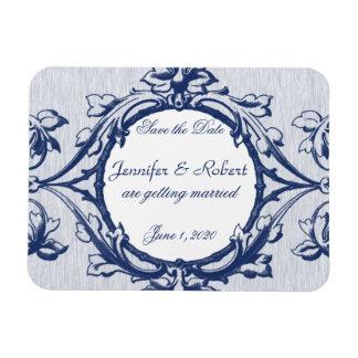 Économies vintages bleues de mariage d'élégance la magnet flexible