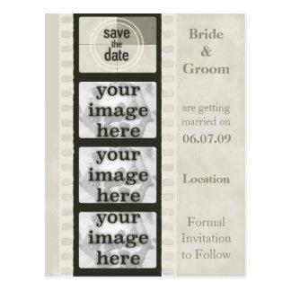 Économies vintages de bande de film les cartes pos cartes postales