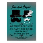 Économies vintages de moustache la date carte postale