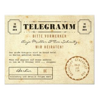 Économies vintages de Telegramm la date Carton D'invitation 10,79 Cm X 13,97 Cm
