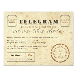 Économies vintages de télégramme la date bristols