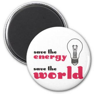 Économisez l'énergie, sauvez le monde aimants