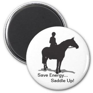 Économisez l'énergie… Sellez l'aimant - cavalier a