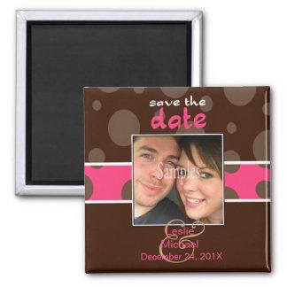 Économisez magnet photo de date bulles de chocolat aimant