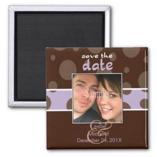 Économisez/magnet photo de date/bulles de chocolat magnets pour réfrigérateur