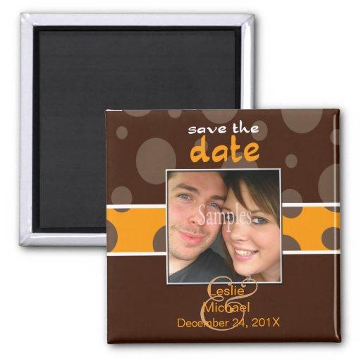 Économisez/magnet photo de date/bulles de chocolat aimant pour réfrigérateur