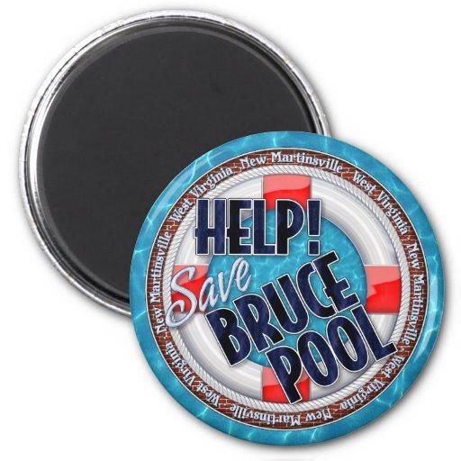 Économisez ! Piscine de Bruce Magnets Pour Réfrigérateur