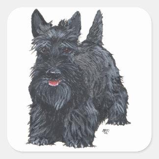 Écossais espiègle Terrier Sticker Carré